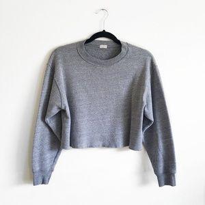 Brandy Melville John Galt Crewneck Crop Sweatshirt